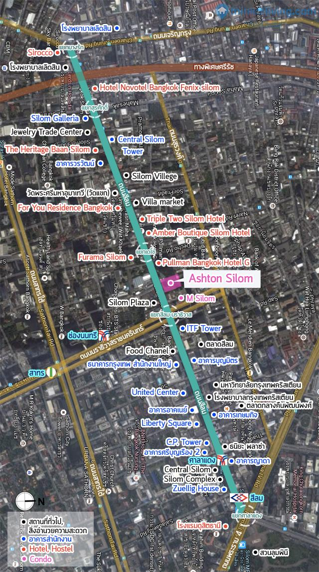 Map Ashton ถนนสีลม