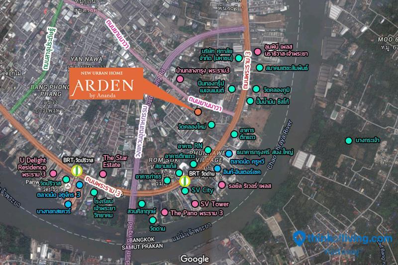 map zoom Arden