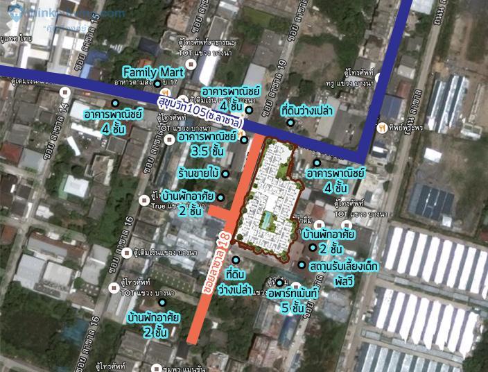 Map zoom villa ลาซาล