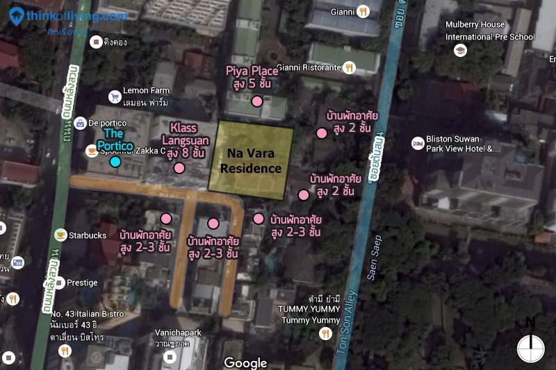 Na Vara Residence map_โครงการ