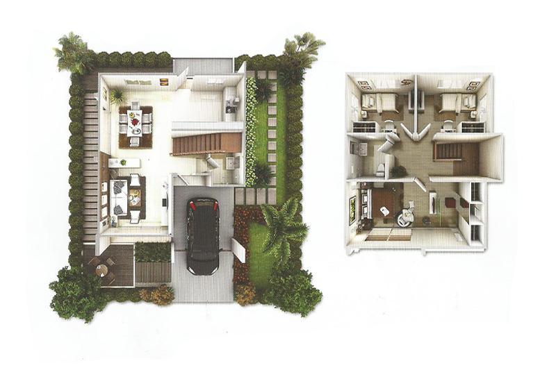 แบบบ้าน_บ้านแฝด