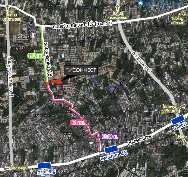 Map การเดินทาง รถไฟฟ้า