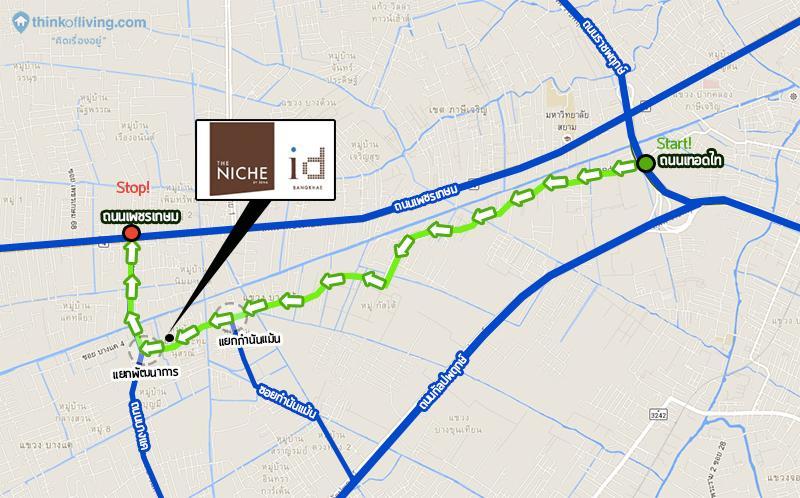 Map เดินทางตัวอย่างThe Niche