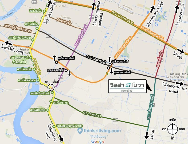 map route villa nova