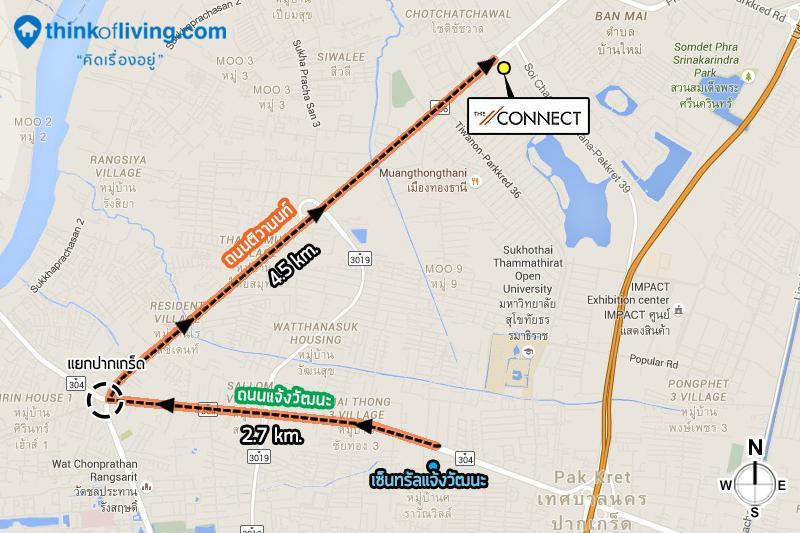 แผนที่เส้นทาง theconnect