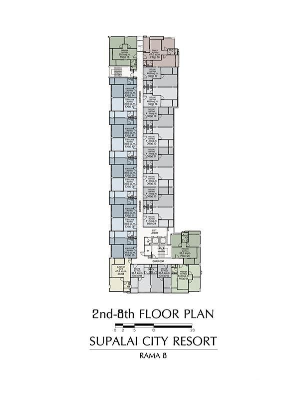 2nd-8th FLOOR PLAN
