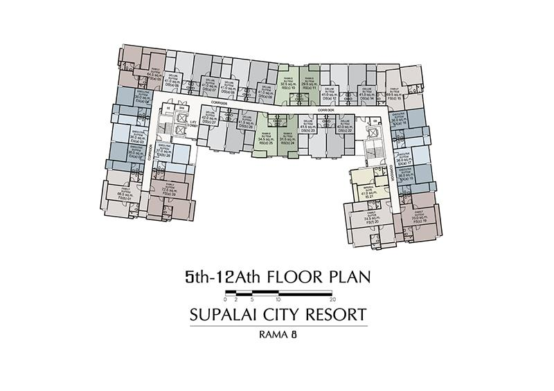 5th-12Ath FLOOR PLAN