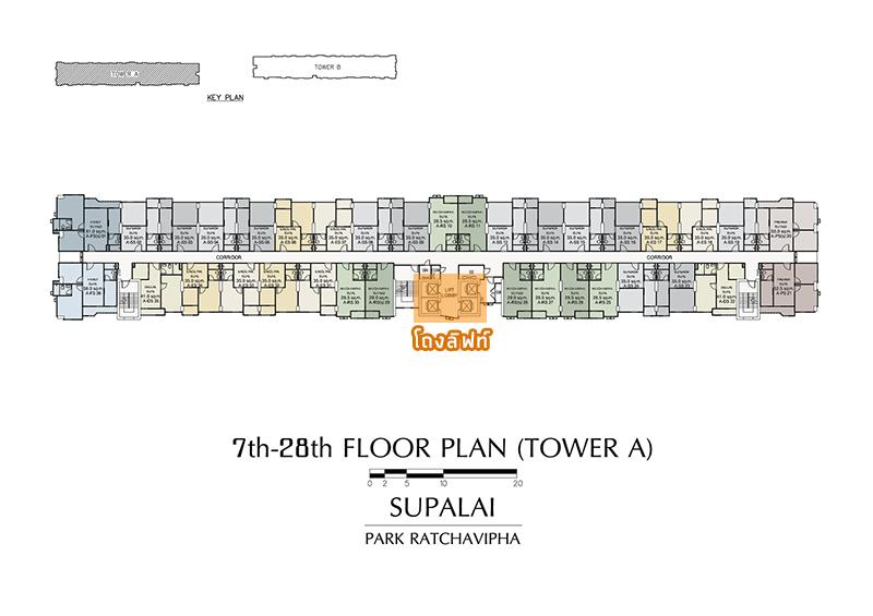 7th-28th FLOOR PLAN (TOWER A)