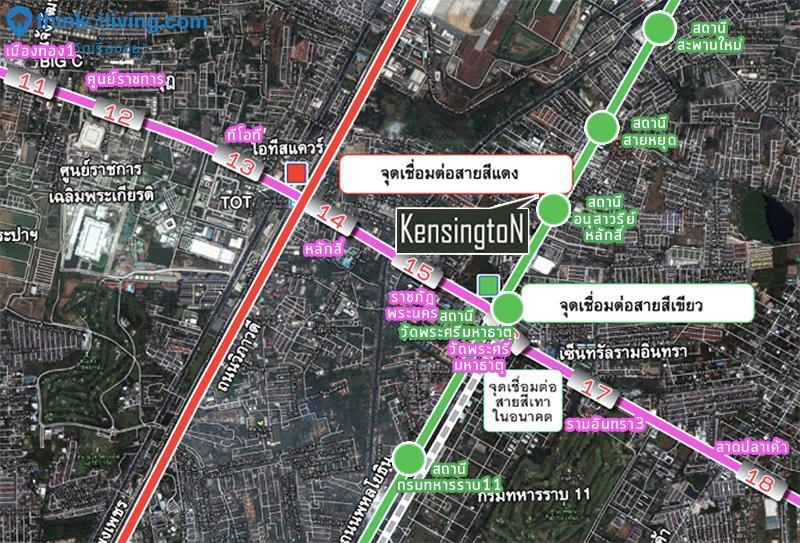 แผนที่รถไฟฟ้า Kensington