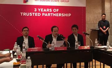 AP จับมือ Mitsubishi Estate ต่อเนื่องเข้าปีที่ 4 พร้อมลุยแผน 2560 เปิดโครงการใหม่ มูลค่า 35,000 ลบ.