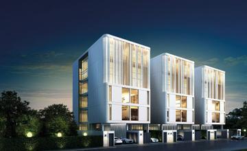 White Wall Srinakarin โฮมออฟฟิศ 5 ชั้น หลัง Paradise Park และ ใกล้สวนหลวง ร.9 จาก PITISUK [PREVIEW]