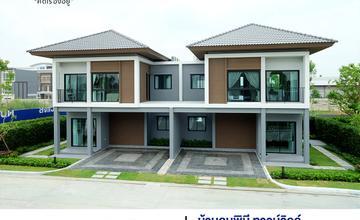 พาชมบ้านตัวอย่าง บ้านลุมพินี ทาวน์วิลล์ ราชพฤกษ์-ปิ่นเกล้า เปิดเฟสใหม่ บ้านแฝด 2 ชั้น ในซอยบางกรวย-จงถนอม จาก LPN