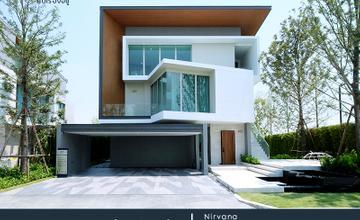 พาชมบ้านตัวอย่าง Nirvana Beyond พระราม 9 – กรุงเทพกรีฑา บ้านเดี่ยว 3 ชั้น รูปแบบ Natural Modern บนถนนศรีนครินทร์ – ร่มเกล้า จาก Nirvana Daii