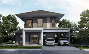 ANASIRI บางใหญ่ บ้านแฝดและบ้านเดี่ยว 2 ชั้น สไตล์โมเดิร์น ย่านบางใหญ่ จาก แสนสิริ [PREVIEW]
